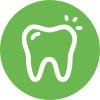tooth icon circle