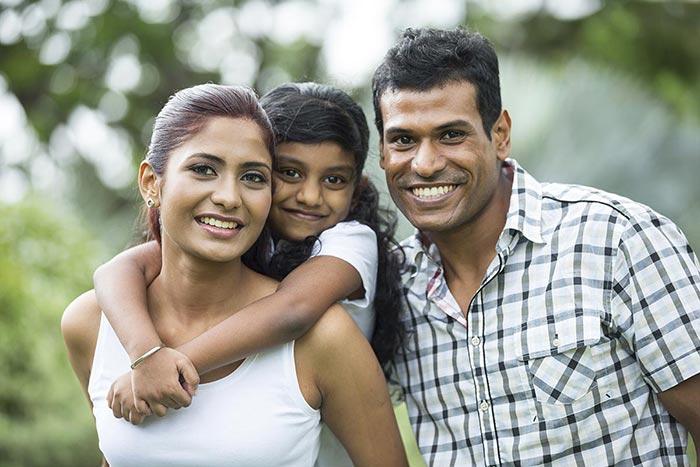 Ottawa Family of Three At The Park